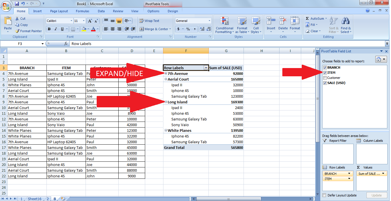 online pivot table training